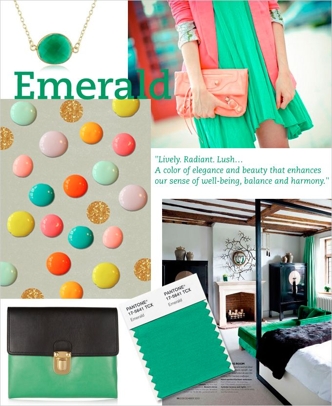 Welcome to Emerald - colour of 2013.