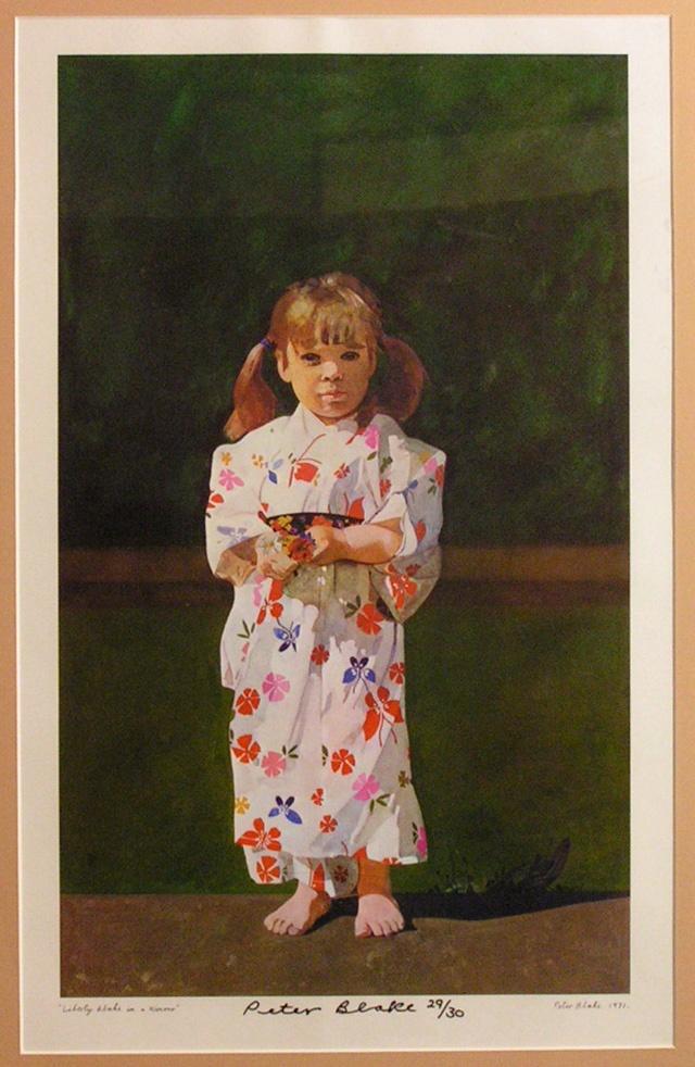 Liberty Blake in a kimono: Peter Blake