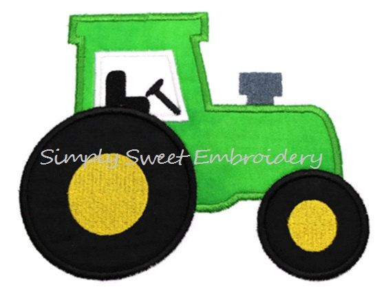 Tractor Machine Embroidery Applique Design by SimplySweetEmbroider, $4.00