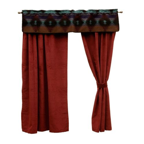Painted Desert Curtains with a southwestern valance