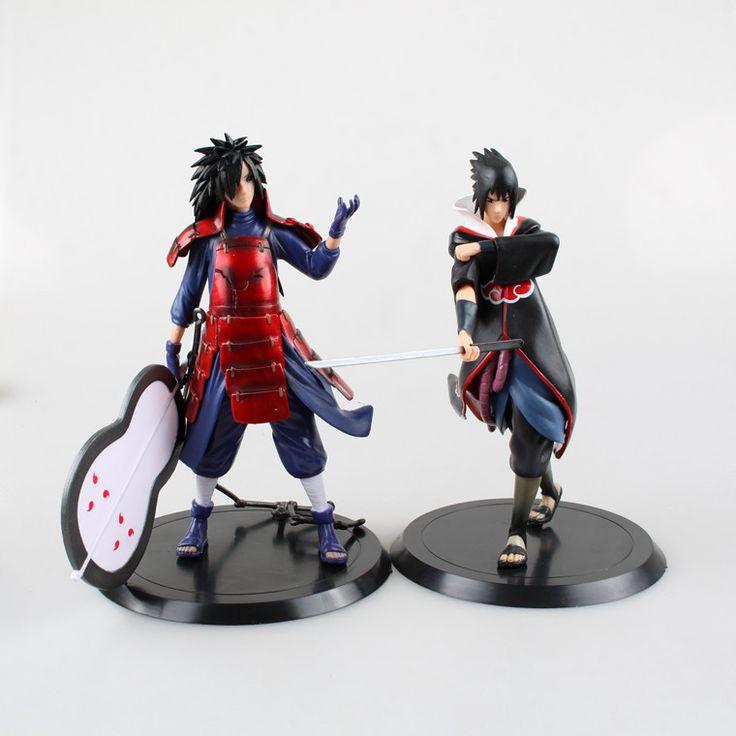Anime Naruto 2PCS/SET Uchiha Madara Uchiha Sasuke PVC Action Figures Brinquedos Collectible Model Toys //Price: $US $14.95 & FREE Shipping //     #rchelicopters