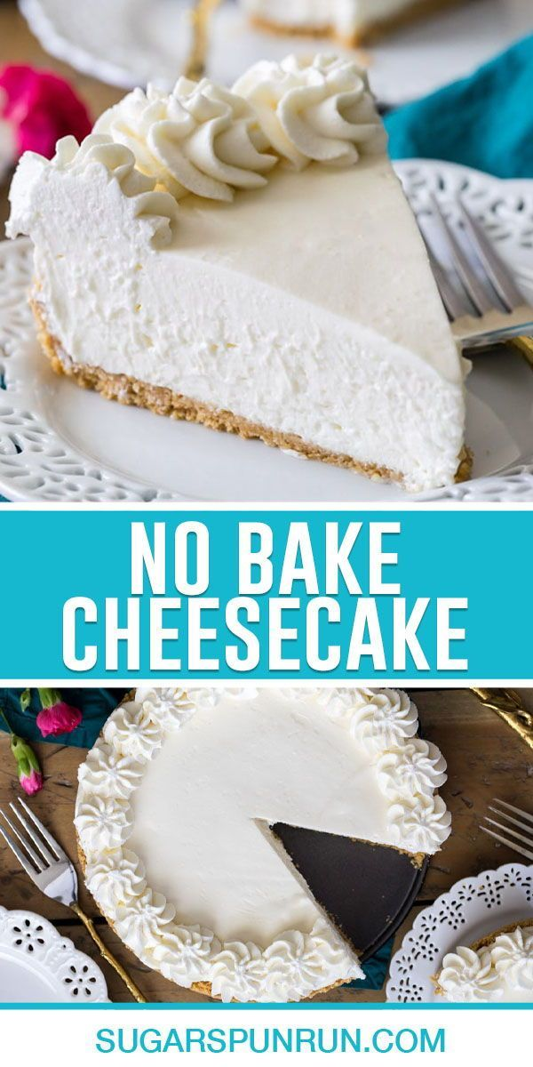 No Bake Cheesecake Recipe In 2020 Cheesecake Recipes Baking No Bake Cheesecake