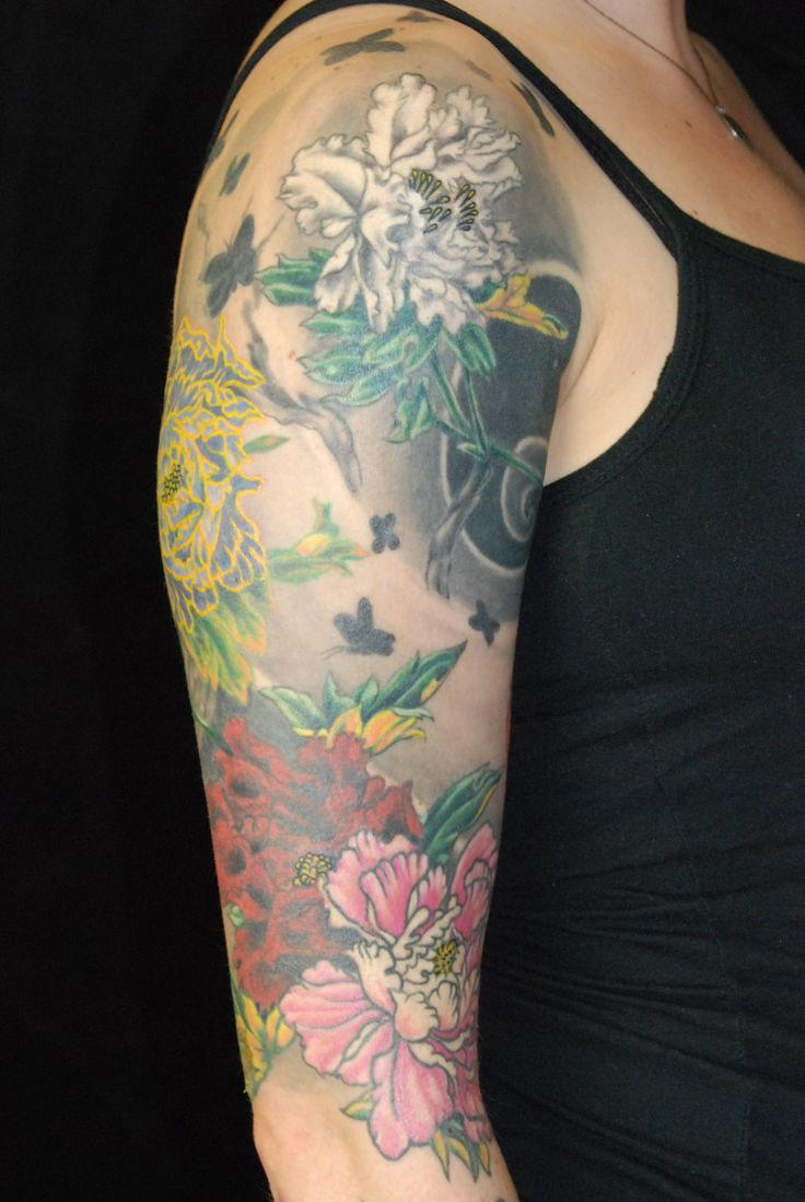 Japanese Peony And Wind Tattoo By Josh Sharpe At Under The