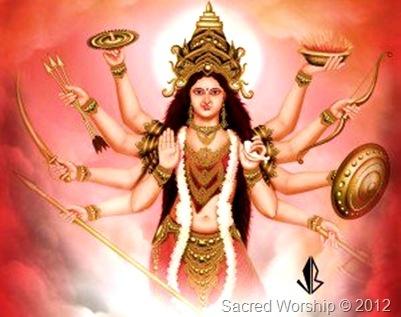 Hymn to Goddess Durga    Sarva Mangala Mangalye  Shive Sarvartha Sadhike  Sharanye Trayambike Gauri  Narayani Namostute    + Meaning in English