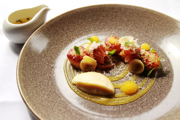 Dish of the week : Come to The Millhouse Restaurant and try our delicious new dish - Seared atlantic scallops, parsnip, prosciutto, grapefruit & brazil nut. bon appetit!