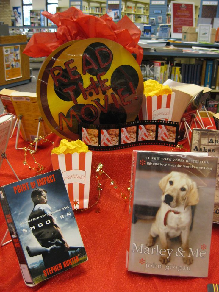 """""""Read the Movies"""" library book display . . . changing the title to """"Better than the Movie"""""""