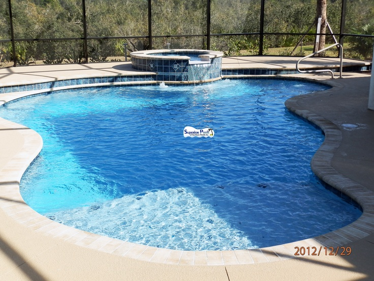 Superior Pools Port Charlotte Fl Kidney Shape Pool With A 2 Raises And