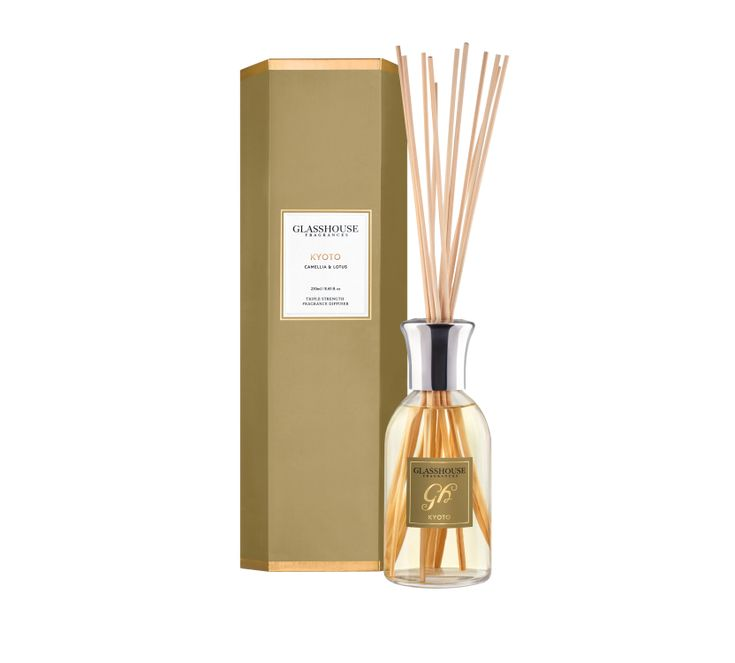 Kyoto Camellia and Lotus 250ml Fragrance Diffuser by Glasshouse Fragrances