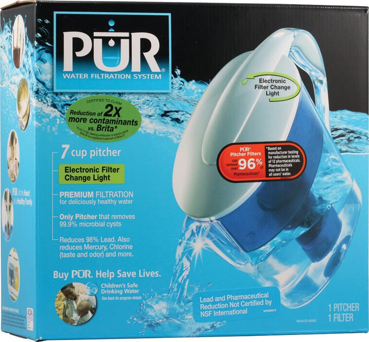 Pur Water Filtration System 7 Cup Pitcher with Filter Change Light #setandsave