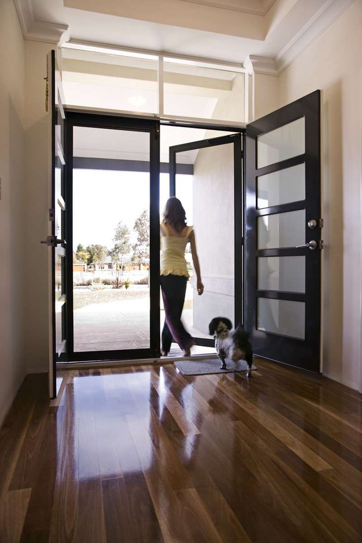 Top 25 best security door ideas on pinterest safe room for Entry door with screen