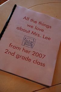 I would so love to receive a book like this!  This must be done for kiddo's teacher this year!
