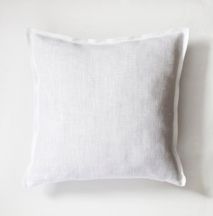 White linen pillow case - natural fabric pillow cover  - decorative pillows - euro shams  0034 - pinned by pin4etsy.com