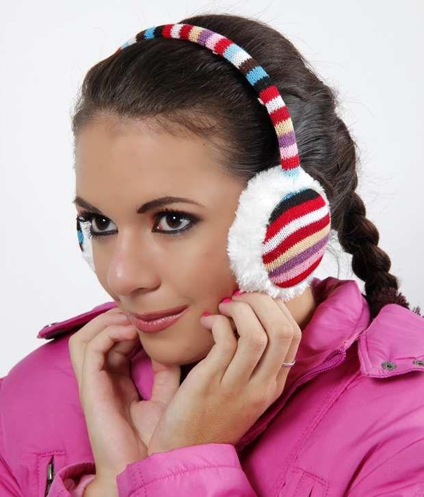 Bizarro Vibrant Horizontal Striped Ear Warmer