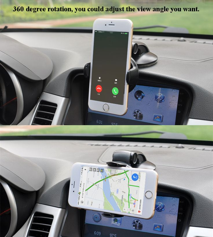 Universal 360° Rotation Suction Cup Table Bracket Car Mount Phone Holder for Phone Under 5.5 inches