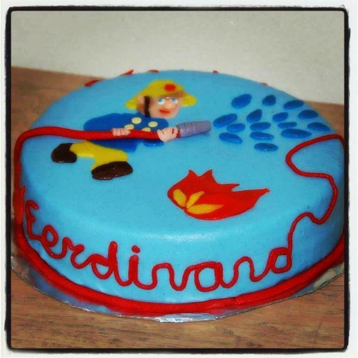 Brandweerman Sam taart voor Ferdinand.