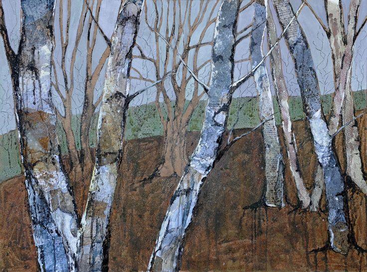 Jenny Grevatte - Trunks of Silver Birches    http://www.goldmarkart.com/all-art/all-artists/jenny-grevatte/trunks-of-silver-birches.html#