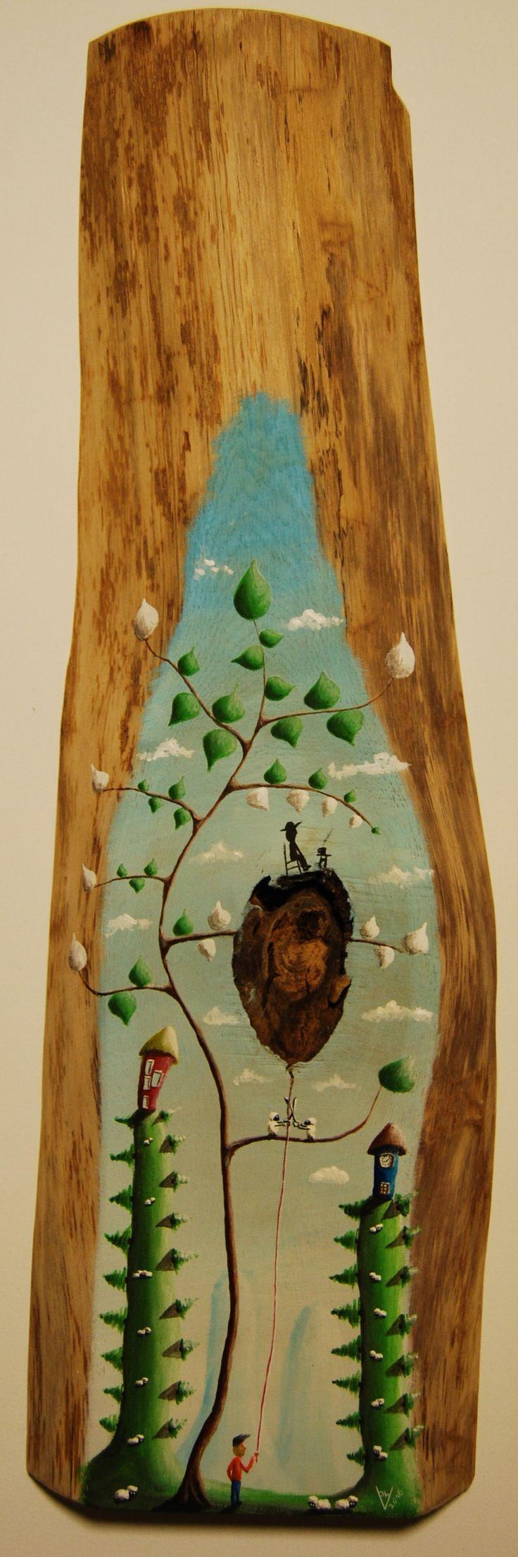 """""""me 17"""" Paweł Widera original paintings, acrylic on wood"""