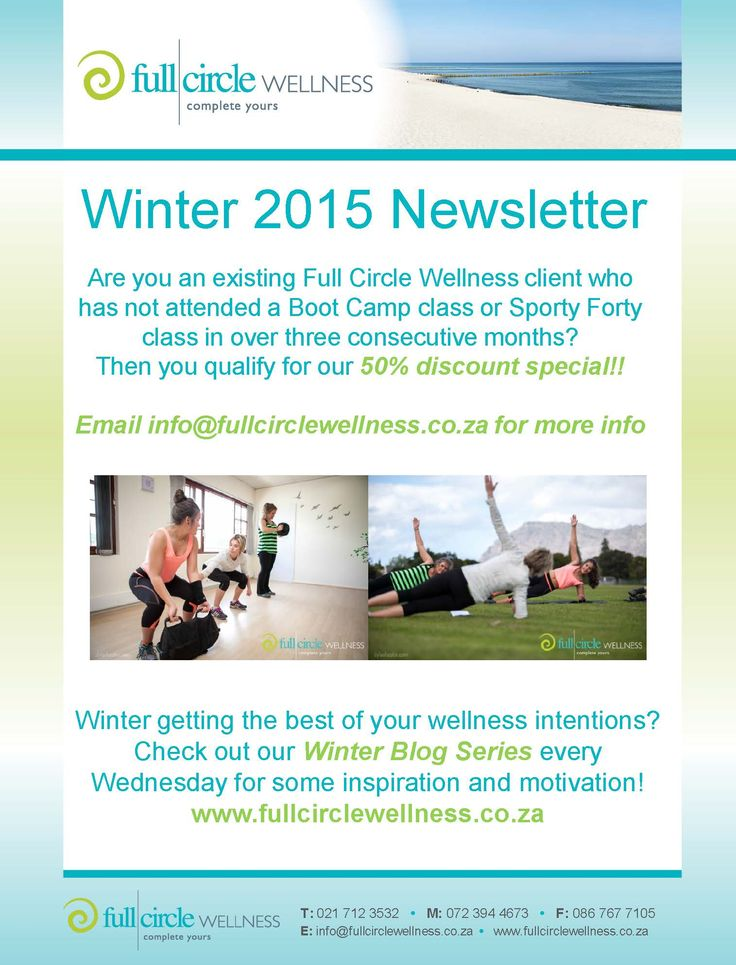 50% #discount for Returning #FullCircleWellness Clients this #Winter!
