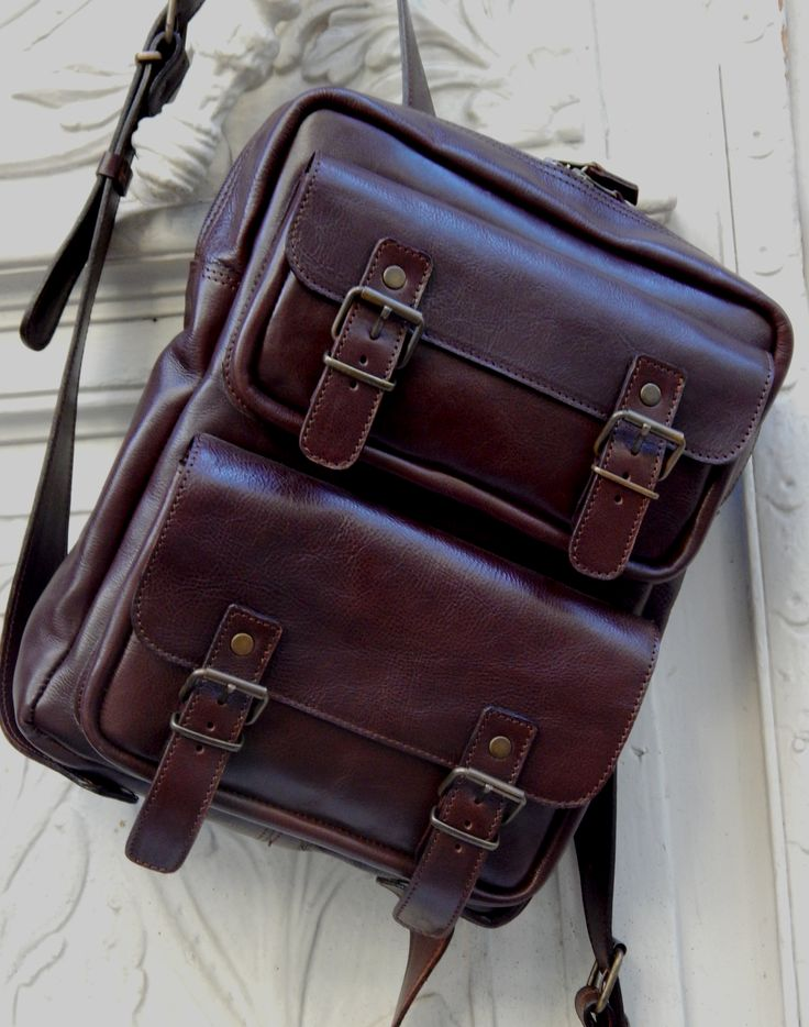 Handmade leather Backpack DOS ........ 2 sizes ...... 2 choices ...... same quality !!!!! Favorite dark brown !!!! Romba's leather sandals, bags, tobacco pouches, lighters cases, notebooks and more