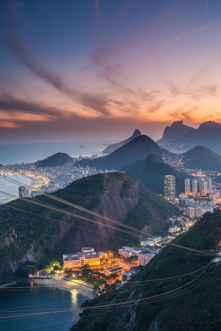RIO de JANEIRO, Brazil. Rio at dusk. Photo by Raymond Choo.   #rio #riodejaneiro #brazil #brasil