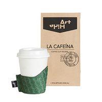 La Cafeina Coffee Cup Holder - Zeus Wasabi Green