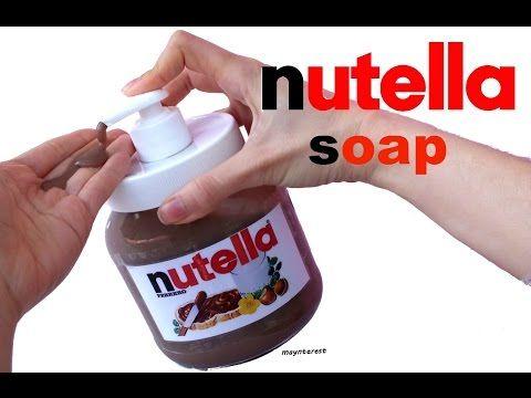 Dispenser di sapone Nutella Fai da te - YouTube