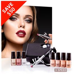 Reveal skins natural beauty with our dermatologist tested and recommended Luminess 3-Speed Pro Airbrush Makeup System. Airbrushing with the Luminess Pro System helps eliminate cross contamination (no need for makeup brushes) resulting in healthier looking skin.