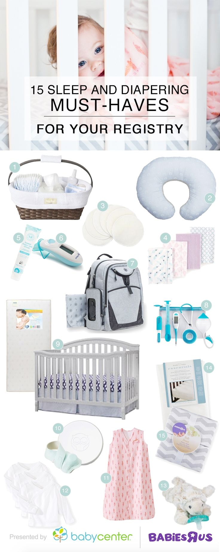 Great round-up of tips and must-haves for your baby registry list. via #BabyCenter and #BabiesRUs #BabyCenterKnowsGear