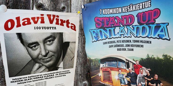 Stand uppia ja Olavi Virtaa Taivalkosken vanhuspalveluiden mummoille ja vaareille. Yhdessä kaikkien kanssa.