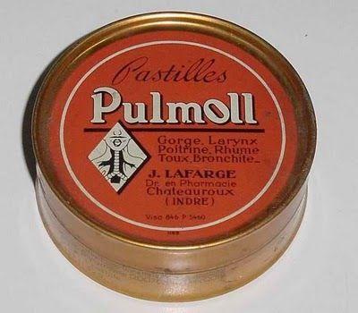 Pastilles Pulmoll : le sirop est crée en 1926 par le Pharmacien Victor Hélin crée dans son petit laboratoire, à Chateauroux. Son gendre transformera celui-ci en pastilles qu'il commercialisera dans les célèbres boites rondes en métal de couleur rouge . Ce succès durera jusque dans les années 70 qui verront le début de son déclin. Cédée à la Société GSK, par ailleurs exploitant de la fameuse autre pastille, la pastille Valda, elle connaît toujours le succès et un renouveau actuel.