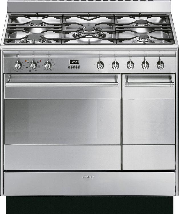 Buy Smeg Concert SUK92MX9 90cm Dual Fuel Range Cooker (SUK92MX9) - Stainless Steel | Marks Electrical
