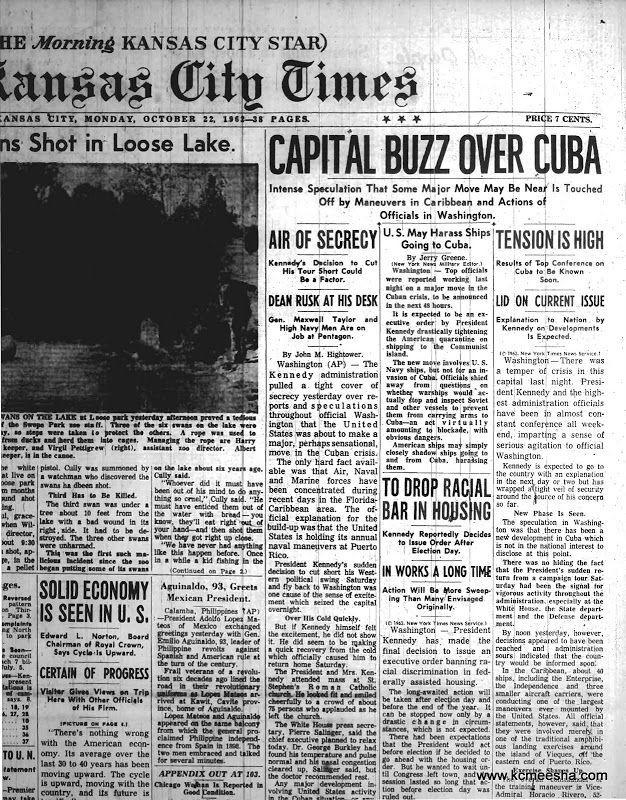 Old Newspapers: Cuban Missile Crisis • Kansas City