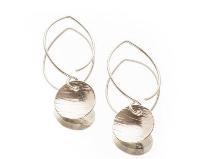 Pennie~Hand Forged Sterling Silver Earrings (B)