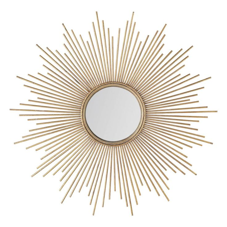 Spiegel aus vergoldetem Metall Magellan