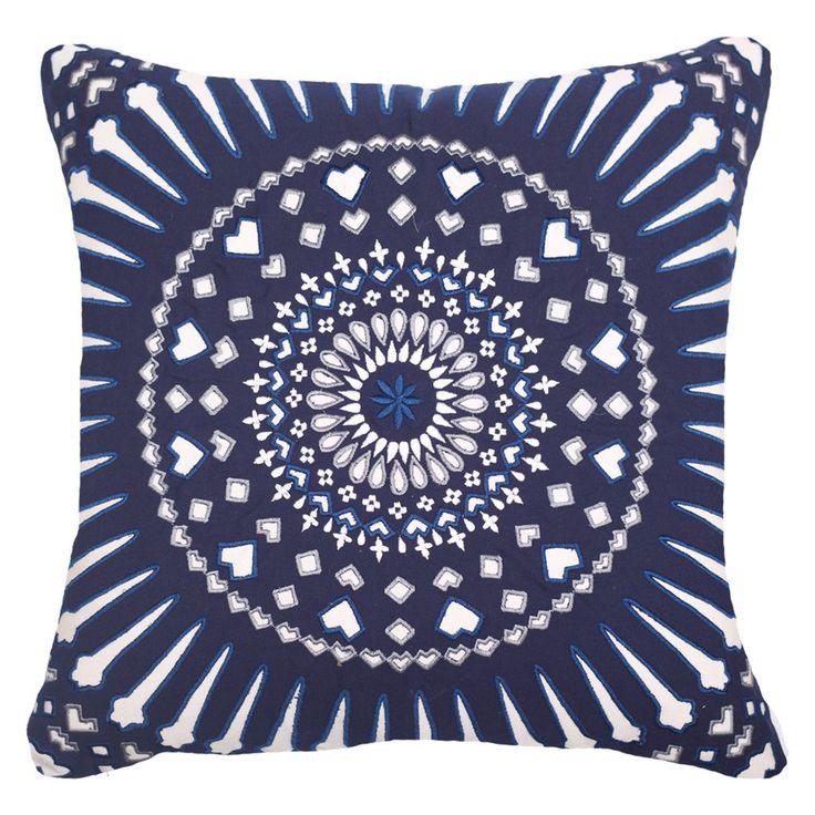 Outdoor Mayan Sphere Navy Lounge Cushion 55x55cm