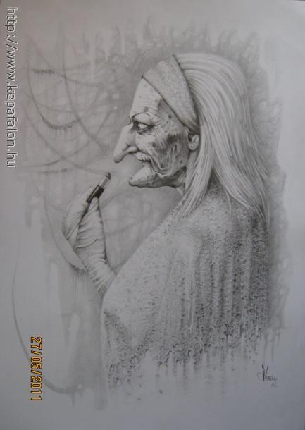Mazán Mihály - Ne! című festménye