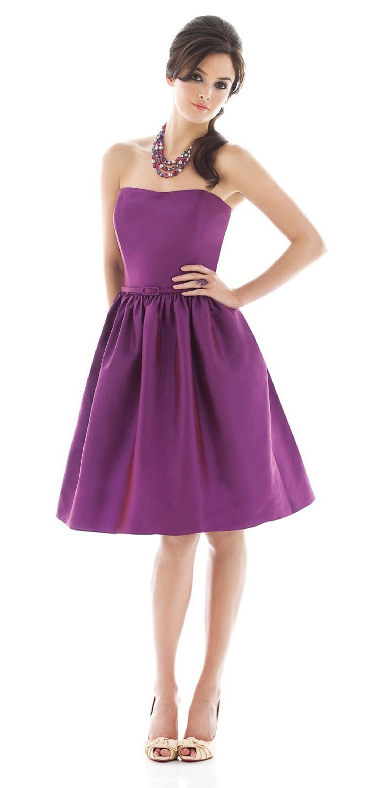 122 best purple lavender dresses images on pinterest lavender alfred sung strapless purple cocktail length peau de soie dress ombrellifo Image collections