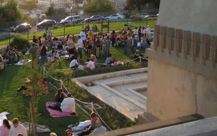 On Friday evenings, Silverlake Wine puts on the ultimate outdoor happy hour at the Barnsdall Art Park, with the backdrop of Frank Lloyd Wright's Ho...