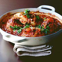 Hühnchen-Gratin mit Champignons und Tomaten