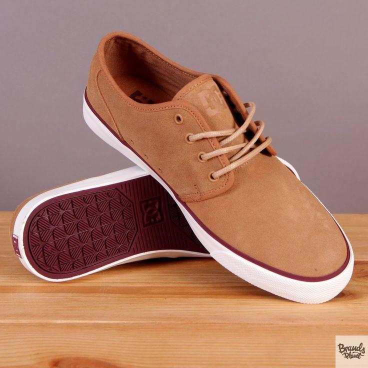 Męskie buty zamszowe na wulkanizowanej podeszwie DC Studio SE Tan - brązowe / www.brandsplanet.pl / #dc shoes #skateboarding