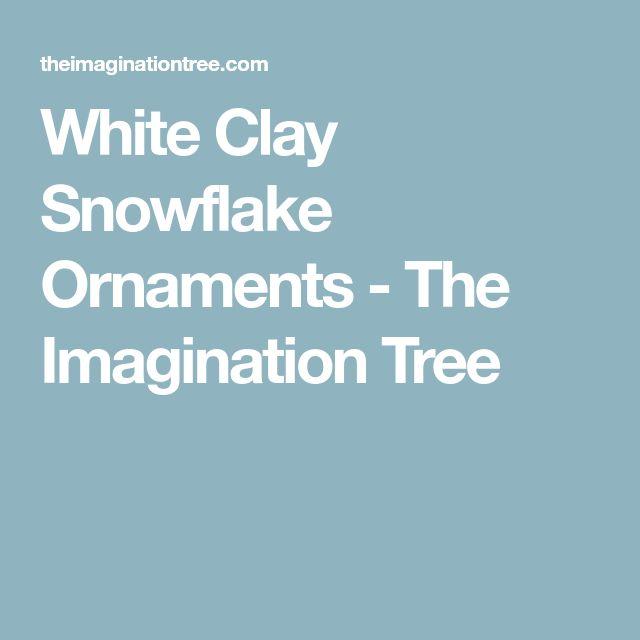 White Clay Snowflake Ornaments - The Imagination Tree