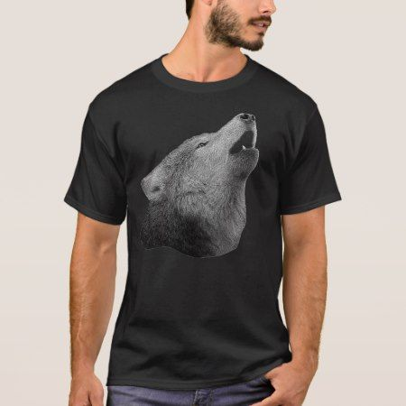 Howling Wolf - Stylized Image T-Shirt - tap, personalize, buy right now!