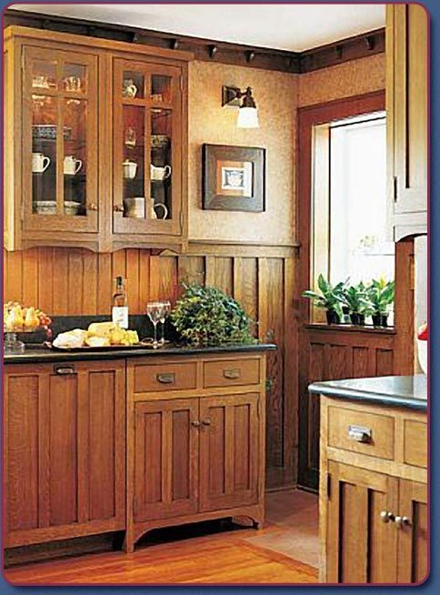 Best Craftsman Galley Kitchen Mission Style Cabinets 400 x 300