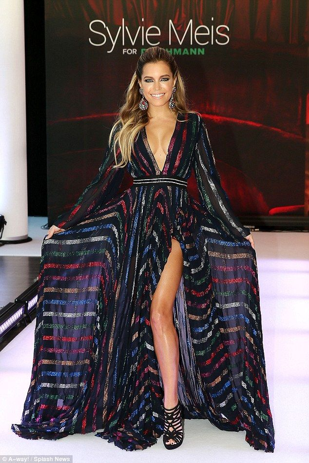 Glossy finish: Sylvie Meis yet again flaunted her magnificent style credentials as she unv...