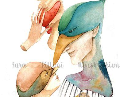 """Check out new work on my @Behance portfolio: """"Eine kleinen Papageno"""" http://on.be.net/1KOPu7d"""