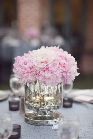 Pink Peony Centerpieces | Vitalic Photo pink peonies centerpieces flowers