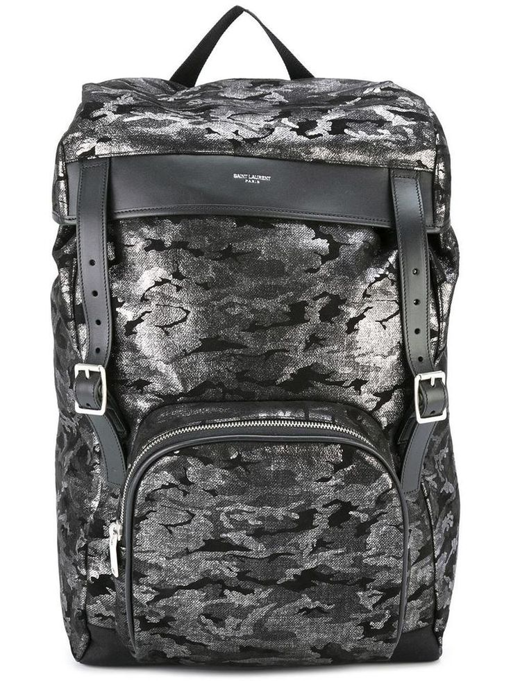 YSL SAINT LAURENT MOON BACKPACK BLACK SILVER CAMOUFLAGE  435989-DMP1F-1078  #YSLSAINTLAURENT #Backpack