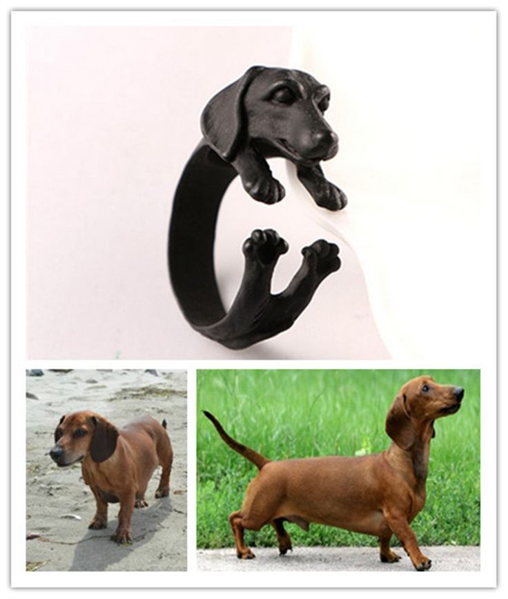 Hot Selling Fashion Teckel Ringen Hond Puppy Vormige Verstelbare Animal Ring Sieraden voor Mannen en Vrouwen JZ-009
