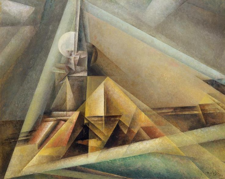 Lyonel Feininger: Gaberndorf I, 1921. Öl auf Leinwand, 80 x 100 cm; Osthaus Museum Hagen. © 2015, ProLitteris, Zürich