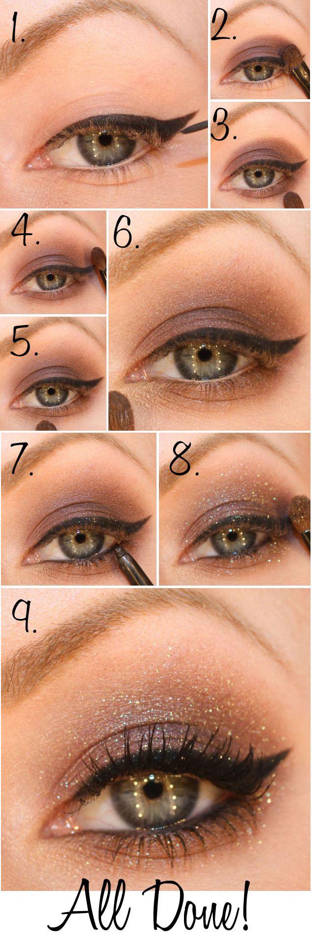 Amanda Seyfried inspired eye shadow tutorial. Shimmery, smokey cat eye